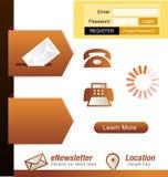 Elemento del diseño de Web Ilustración del Vector