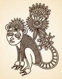 Elemento del diseño del doodle de los animales Fotografía de archivo