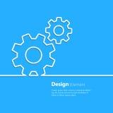 Elemento del diseño del engranaje Imágenes de archivo libres de regalías