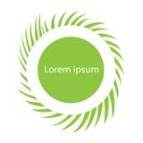 Elemento del diseño del modelo del verano con la hierba verde Imagen de archivo libre de regalías