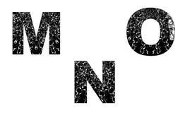 Elemento del diseño del número con la textura floral M-N-O Foto de archivo libre de regalías