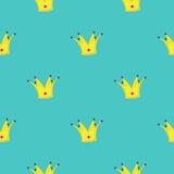Elemento del diseño del rey de la corona Fondo inconsútil Fotografía de archivo
