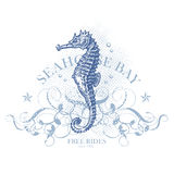 Elemento del diseño del verano del Seahorse Fotografía de archivo