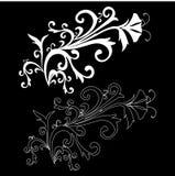 Elemento del diseño en un fondo negro Fotos de archivo