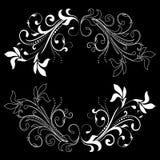 Elemento del diseño en un fondo negro Fotos de archivo libres de regalías