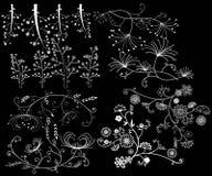 Elemento del diseño en un fondo negro Foto de archivo libre de regalías