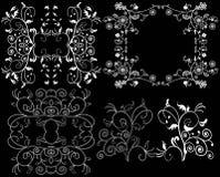 Elemento del diseño en un fondo negro Imagen de archivo