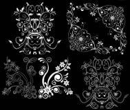 Elemento del diseño en un fondo negro Imagen de archivo libre de regalías
