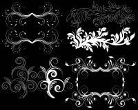 Elemento del diseño en un fondo negro Imágenes de archivo libres de regalías