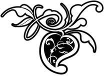Elemento del diseño floral Imágenes de archivo libres de regalías