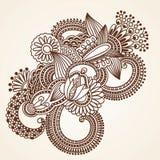 Elemento del diseño floral de la alheña ilustración del vector