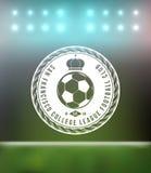 Elemento del diseño de la insignia de la tipografía del fútbol del fútbol Fotografía de archivo libre de regalías