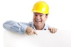 Elemento del diseño del trabajador de construcción Imagen de archivo libre de regalías