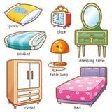 Elemento del dormitorio stock de ilustración