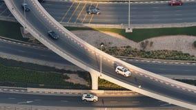 Elemento del empalme de camino en Dubai almacen de video