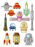 Elemento del espacio de la historieta ilustración del vector