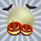 Elemento del fondo de Halloween para el diseño, ejemplo Imagen de archivo libre de regalías