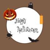 Elemento del fondo de Halloween para el diseño, ejemplo Imagen de archivo
