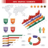 Elemento del gráfico del Info Fotografía de archivo