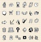 Elemento del icono del Web del drenaje de la mano Fotos de archivo libres de regalías