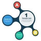 Elemento del Informazione-grafico di Metaball Immagini Stock