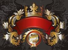 Elemento del marco del oro Foto de archivo libre de regalías