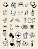 Elemento del medico di Doodle, tiraggio della mano royalty illustrazione gratis