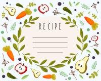 Elemento del menú del vector para la receta Fotografía de archivo libre de regalías