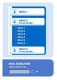 Elemento del menú de la navegación del Web Imagenes de archivo