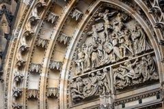 Elemento del modanatura barrocco dello stucco della st Vitus Cathedral in Fotografia Stock Libera da Diritti