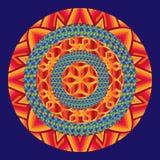 Elemento del ornamento de la mandala con las rondas Imagen de archivo libre de regalías