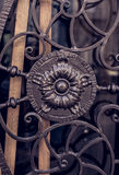Elemento del ornamento de la puerta Imagenes de archivo
