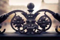 Elemento del ornamento de la puerta del metal Imagenes de archivo
