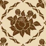 Elemento del reticolo del damasco del fiore di vettore Fotografia Stock Libera da Diritti
