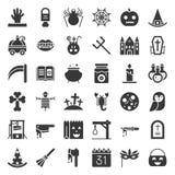 Elemento del sistema del icono del vector de Halloween, diseño del glyph stock de ilustración