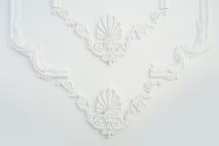 Elemento del telaio architettonico che modella sulla parete fotografia stock
