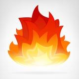 Elemento del vector del calor de la llama del fuego Fotos de archivo libres de regalías