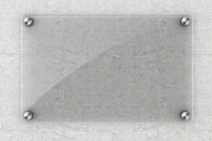 elemento del vidrio del espacio en blanco 3d Imagenes de archivo