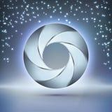 elemento del wireframe 3D Puertas futuristas del espacio Fotografía de archivo libre de regalías