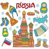 Elemento dell'icona della Russia Fotografia Stock Libera da Diritti