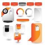 Elemento dell'interfaccia utente di web Vettore Immagini Stock