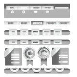 Elemento dell'interfaccia utente di web Vettore Immagini Stock Libere da Diritti