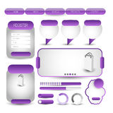 Elemento dell'interfaccia utente di web Vettore Immagine Stock