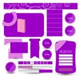 Elemento dell'interfaccia utente di web Vettore Fotografia Stock Libera da Diritti