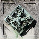 Elemento della decorazione del metallo (modello astratto della natura) Fotografia Stock