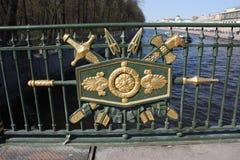 Elemento della decorazione del metallo del recinto fotografia stock libera da diritti