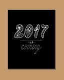 2017 - Elemento della decorazione di Natale e del nuovo anno Fotografie Stock