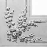 Elemento della decorazione fatto di gesso bianco Fotografie Stock