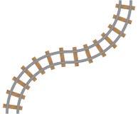 Elemento della ferrovia isolata su fondo bianco Fotografia Stock Libera da Diritti