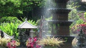 Elemento della fontana di Tirta Gangga archivi video
